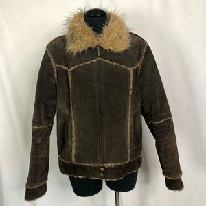 Mixit Leather & Fur Jacket- Women's XL